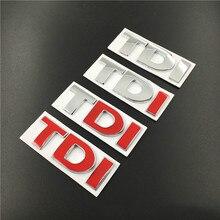10 قطعة/الوحدة المعادن TDI شارة شعار صائق ملصقات شعار لفولكس واجن فولكس فاجن بولو جولف جيتا باسات b5 b6 GTI توران بورا سيارة التصميم