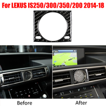 Carbon Fiber Center Console Clock Cover Trim Sticker For LEXUS IS250 IS300 IS350 2014-18 fit 06 13 lexus is250 is350 4dr in s style poly urethane rear bumper lip
