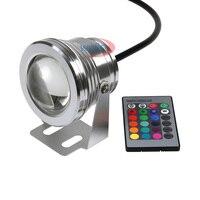 10W LED lampa zewnętrzna RGB/biały/ciepły biały podwodny reflektor LED zmiana koloru IP67 światło halogenowe na światło ogrodowe w Reflektory od Lampy i oświetlenie na