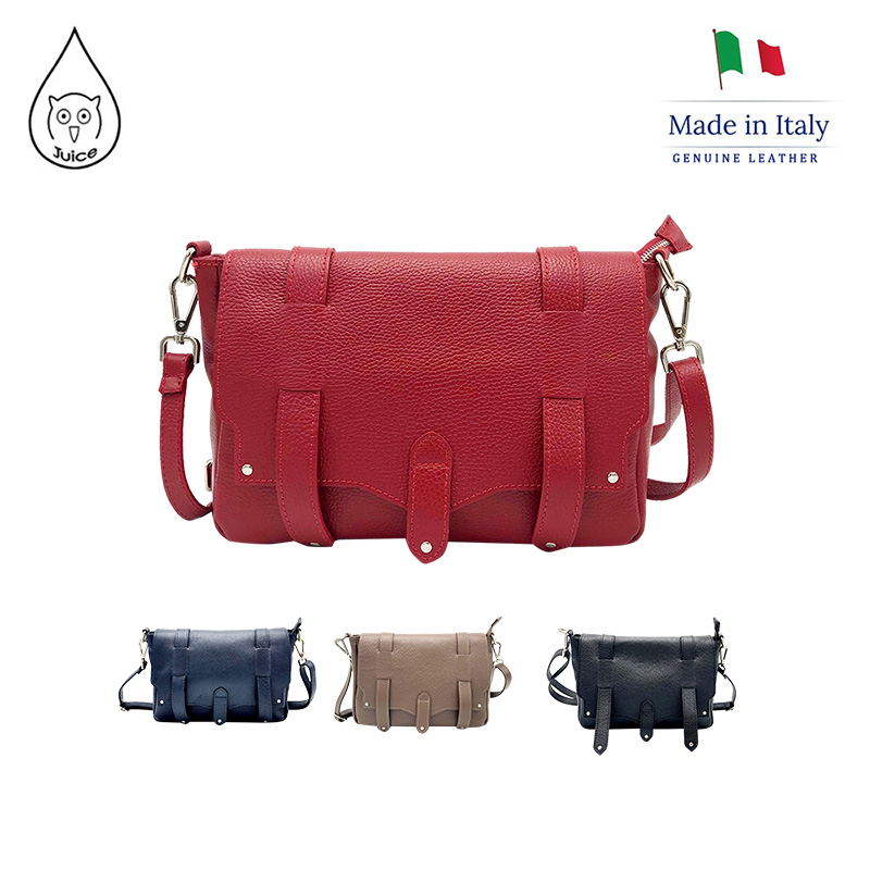 JUICE ,made In Italy, Genuine Leather, Women Bag,cross Body,dollaro Leather Soft Leather 112185