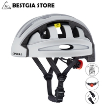 Cairbull Folding Cycling Helmet With LED Rearlight Portable Thicken Safety Folda