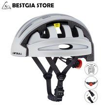 Cairbull складной велосипедный шлем со светодиодным задним светом
