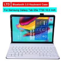 Buy Bluetooth 3.0 Tablet Keyboard Case For Samsung Galaxy Tab S5e T720 10.5 inch Mediapad Flip Leather Protective Cover Stand Holder directly from merchant!