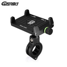 CNC All Aluminum Alloy Mobile Phone Holder For Bike Bicycle Motorcycle Handlebar Mount Holder For iPhone 3.5-6.5 inch Cell Phone