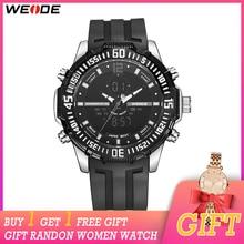 цена на WEIDE Fashion Men Sport Watches  Analog Digital Watch Army Military Quartz Watch Relogio Masculino Women Watch Gift