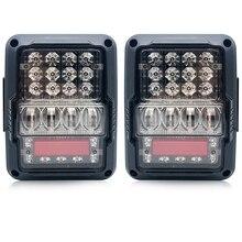 цена на Smoked LED Tail Lights For Jeep Wrangler Taillights For Jeep Wrangler JK JKU Sports, Sahara, Freedom Rubicon 2 4 Door 2007-2017