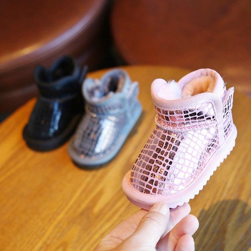 Sequins Non-Slip Soft Bottom Cotton Boots 2