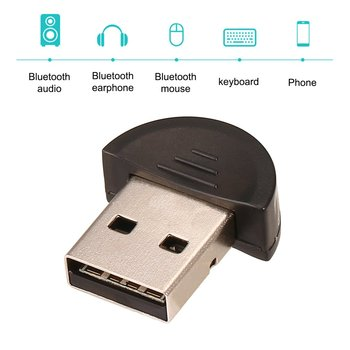 Mini USB Bluetooth Adapter V 2.0 Dual Mode Wireless Dongle V2.0 EDR 100m For Laptop PC Win 7/8/10/XP