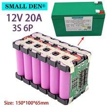 Batterie lithium 3S6P, 12V, 20ah, 18650, avec BMS 20a intégré, courant élevé, pour pulvérisateur, chariot, batterie de véhicule électrique pour enfants