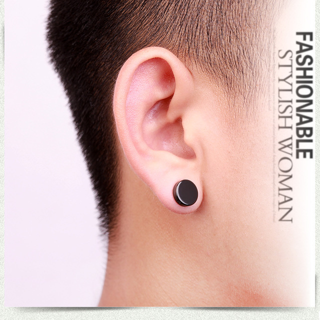 2Pcs Punk Mens Strong Magnet Magnetic Ear Stud Set Non Piercing Earrings Fake Stainless Earrings for.jpg 640x640 - 2Pcs Punk Mens Strong Magnet Magnetic Ear Stud Set Non Piercing Earrings Fake Stainless Earrings for Boyfriend Lover Jewelry