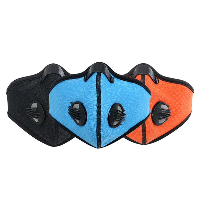 Cycling Mask With Filter Activated Carbon PM 2.5 Anti-Pollution Running Cycling Mask Respirator Anti-Pollution Mask