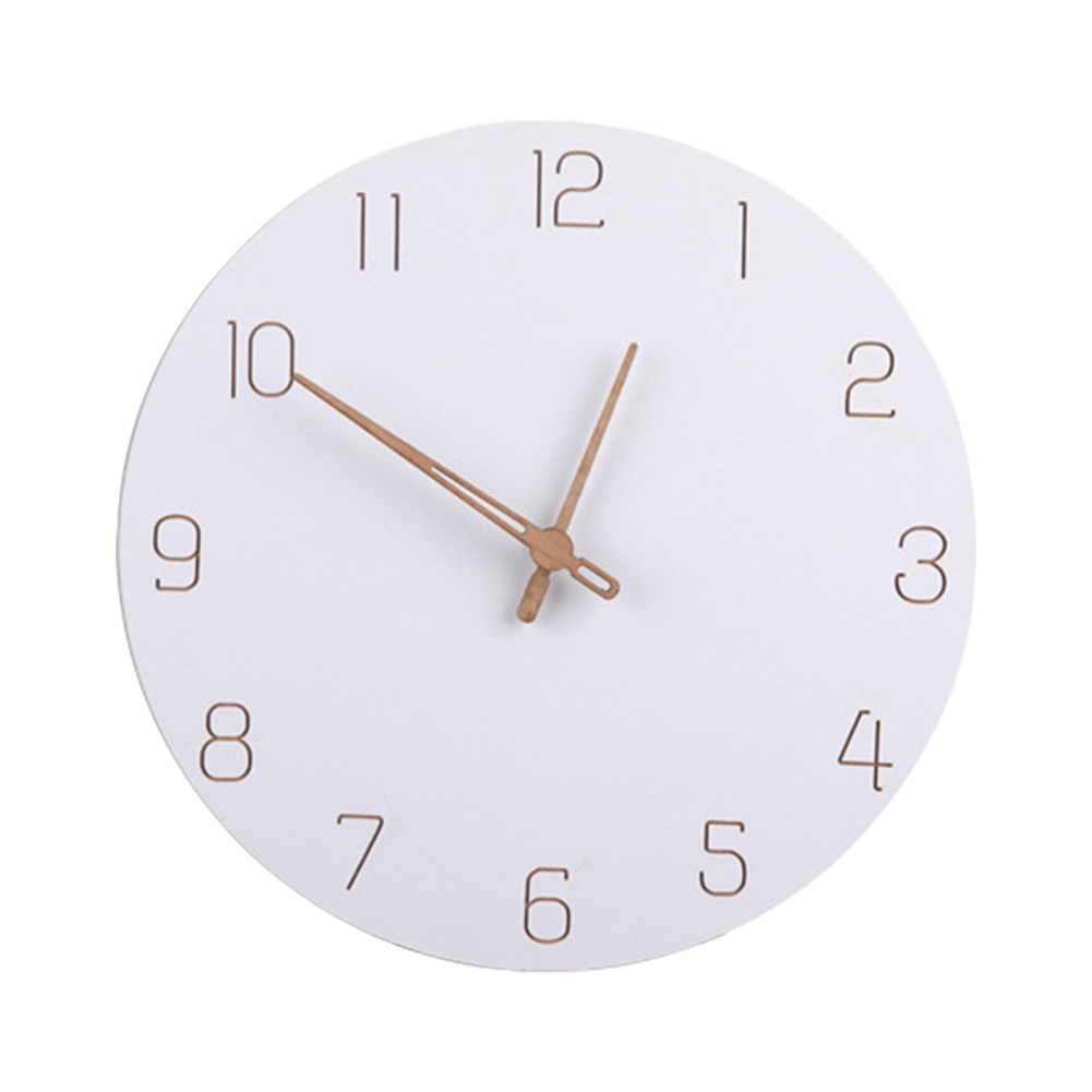 Round Nordic Style Wall Clock Modern Timer Decoration Gift Bedroom Quartz Silent Living Room Battery Operated Simple Fashion