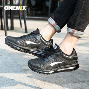Image 5 - ONEMIX Leather Running Shoes for Man Trends Athletic Trainers Outdoor Walking Sneakers Air Cushion Sports Jogging Trekking Shoes
