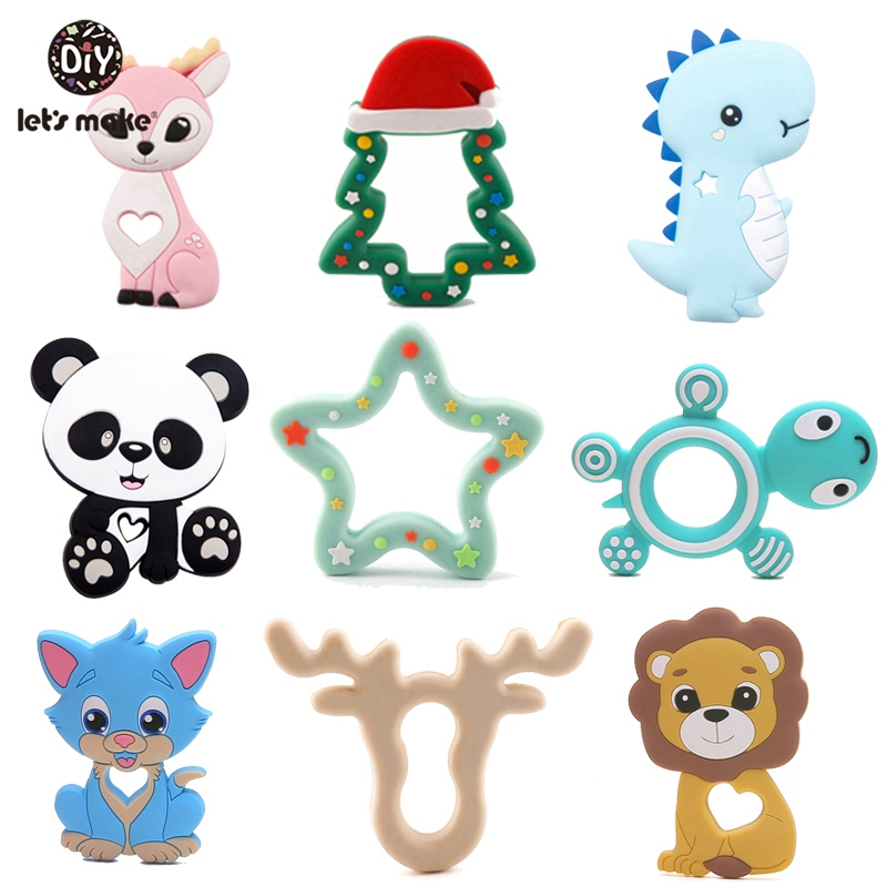 Tiny Rod 1pc Silicone Teether Bambi Sika Deer Sensory Toy New Born Baby Toy Accessories Care Organic Nursing Baby Teether