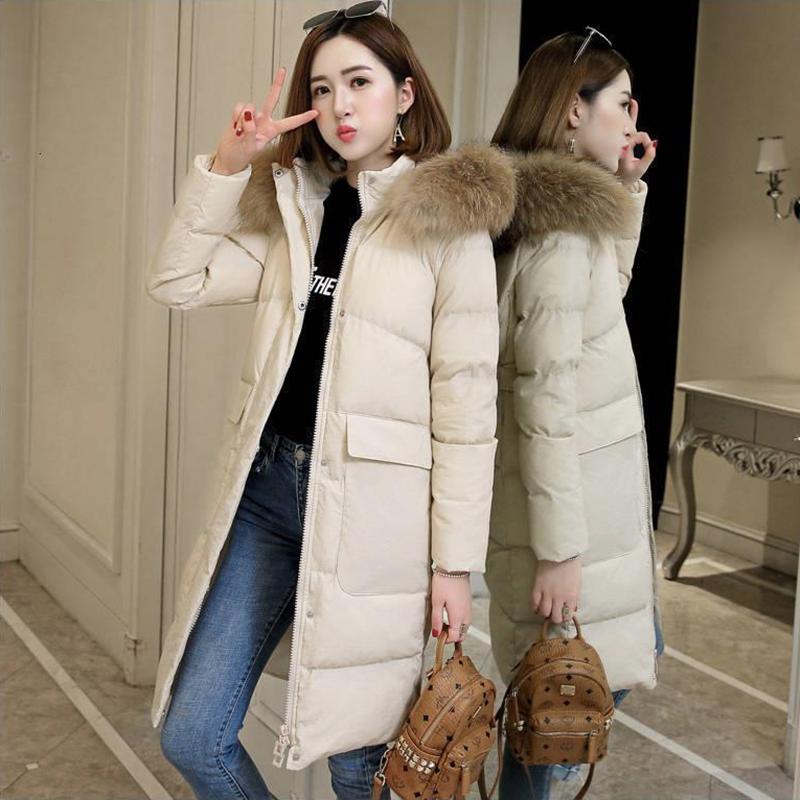 Female Down Jacket In Winter Ultra Light Duck Down Warm  Female Outwear Hooded Long Sleeve Women Down Coat