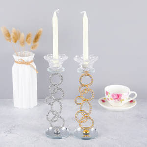New Design Crystal Tea light Candle Holder For Coffee Dining Table Wedding Christmas Halloween Party Home Decoration ZXT030