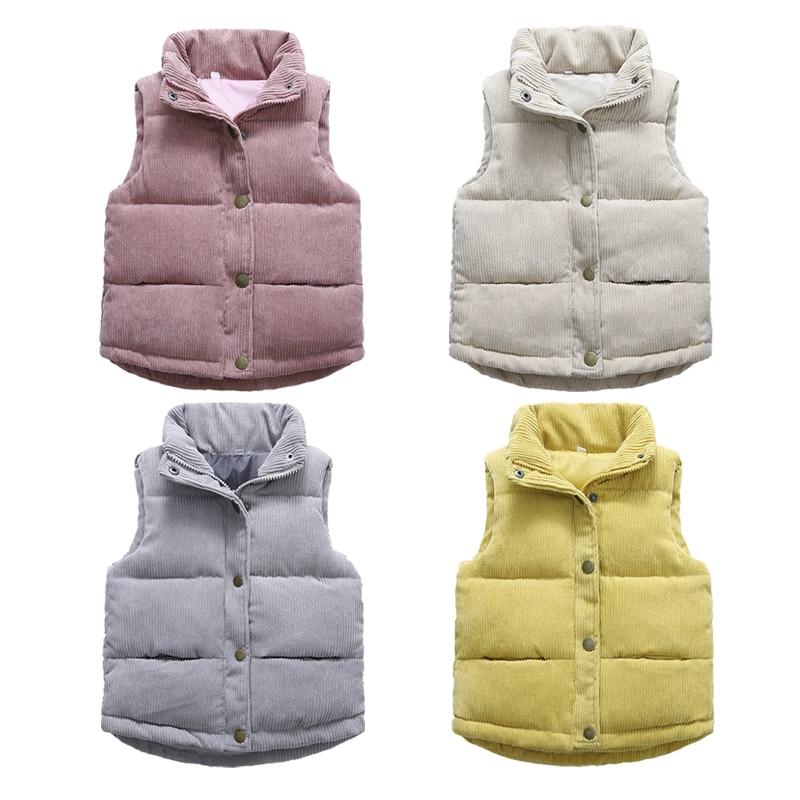 2020 Autumn Girls Warm Vest Winter Boys Thicken Waistcoat Kids Outerwear Vest Children Teens Cotton Jackets Vest For 3-10 Years 1