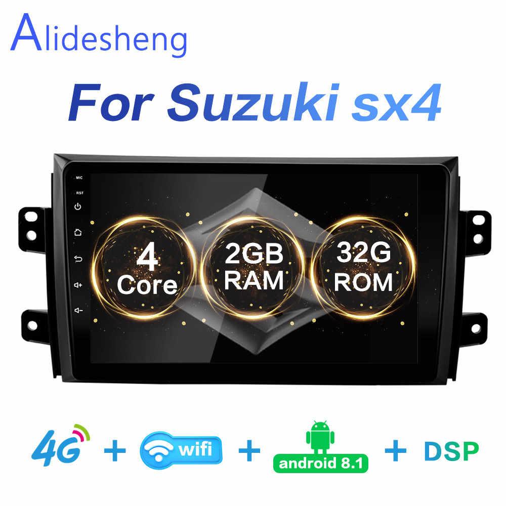 2G + 32 DSP 2 Din Android 8.1 GO araç DVD oynatıcı multimedya oynatıcı GPS Suzuki SX4 2006 2007 2008 2009 2010 2011 2012 navigasyon WiFi BT