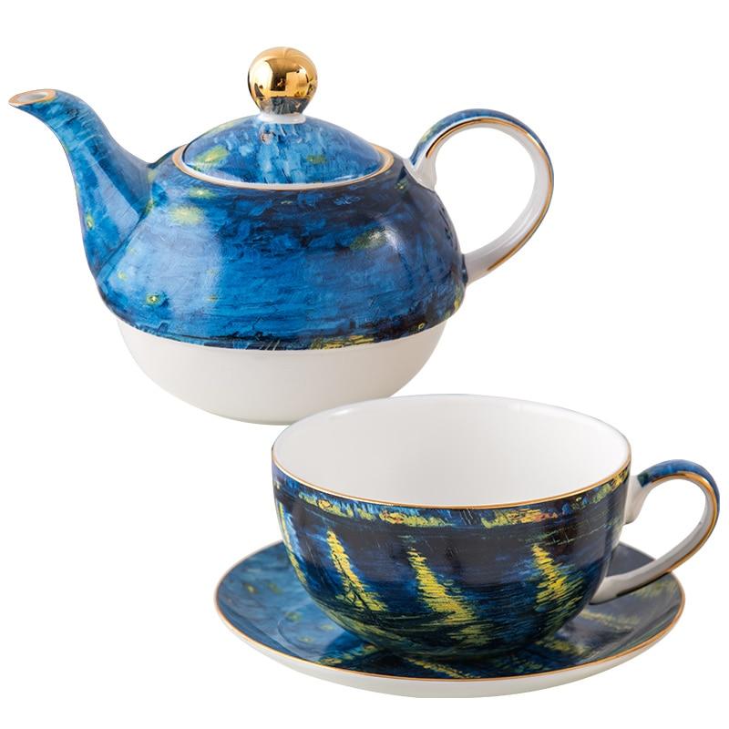 Afternoon tea sets fine bone china tea pot set & ceramic tea pot for one porcelain