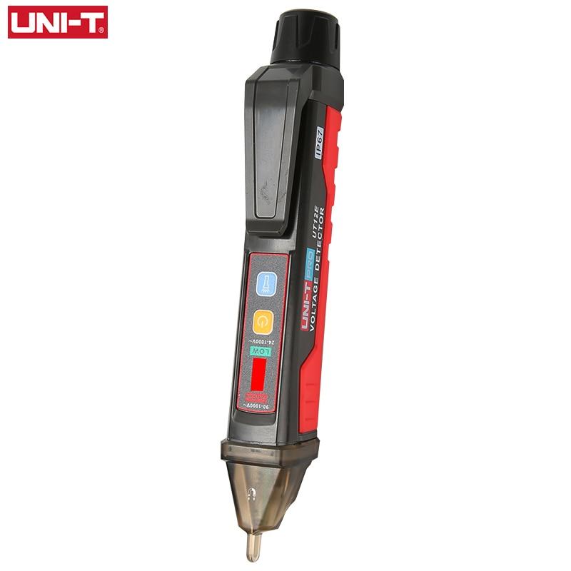 UNI T UT12E UT12M Socket Wall AC Voltage Detector Indicator 24V 1000V Non Contact Volt Current Electric Sensor Test Pen|Voltage Meters| |  - title=