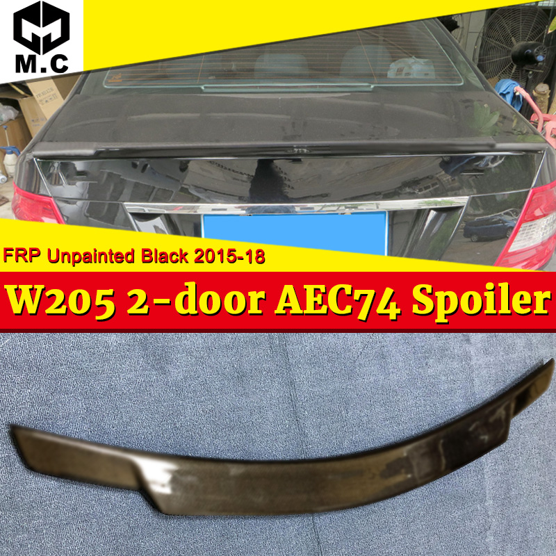 For <font><b>Mercedes</b></font> <font><b>Benz</b></font> W205 2-doors Tail <font><b>Spoiler</b></font> Wing C74 Style FRP Unpainted C-Class C180 C200 Sedan <font><b>Rear</b></font> Trunk Wings <font><b>Spoiler</b></font> 15-18 image
