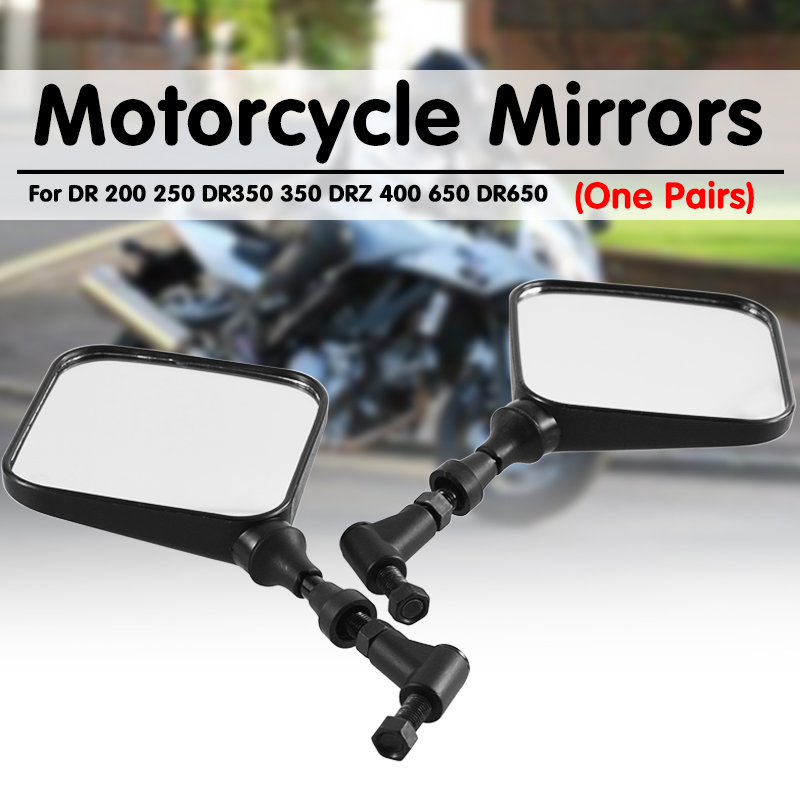 2PCS Motorcycle Mirrors Rear View Side Mirror For Suzuki DR 200 250 DR350 350 DRZ 400 650 DR650 Motorcycle Mirrors Accessories