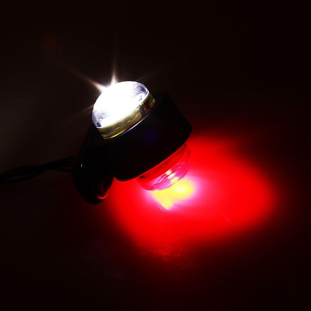 Светодиодный светильник с красной стороной, габаритный светильник для грузовиков, кемперов, трейлеров, Предупреждение ющий светильник, водонепроницаемый автомобильный светильник