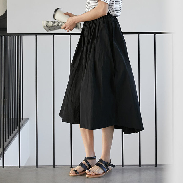 2020control The Crushed Degree Of Tightness Waist Pleated Skirt Long Fund Half-body Will Pendulum Favourite Fashion Chiffon 1