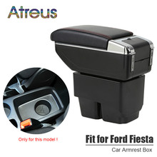 Armrest-Box Ford Fiesta Cup-Holder Ashtray Central-Store-Content-Box Mk7 Usb-Charging-Interface