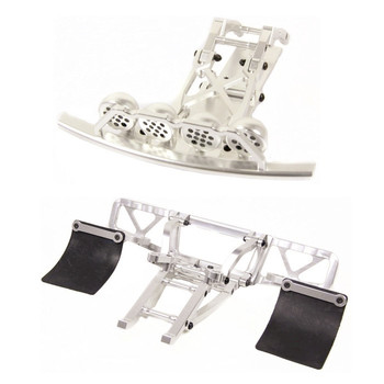CNC Alloy Front and Rear Bumper with Front LED Light Pod Kit Fit for 1/5 HPI ROFUN ROVAN KM BAJA 5T 5SC