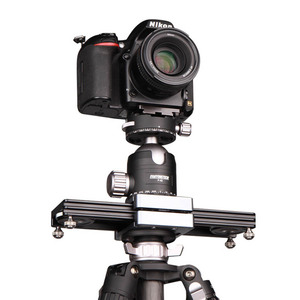 "Image 1 - Kolivar スライダー 9 ""/23 センチメートルミニ調整可能な減衰カメラトラックレールド一眼レフカメラ用スマートフォン DV 移動プロビデオ映画"