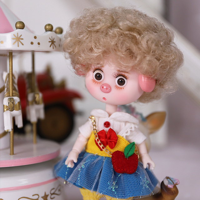 Dream Fairy 1/12 BJD DODO Doll Vintage and Perky style 14cm mini doll 26 joint body Cute children gift toy ob11 3