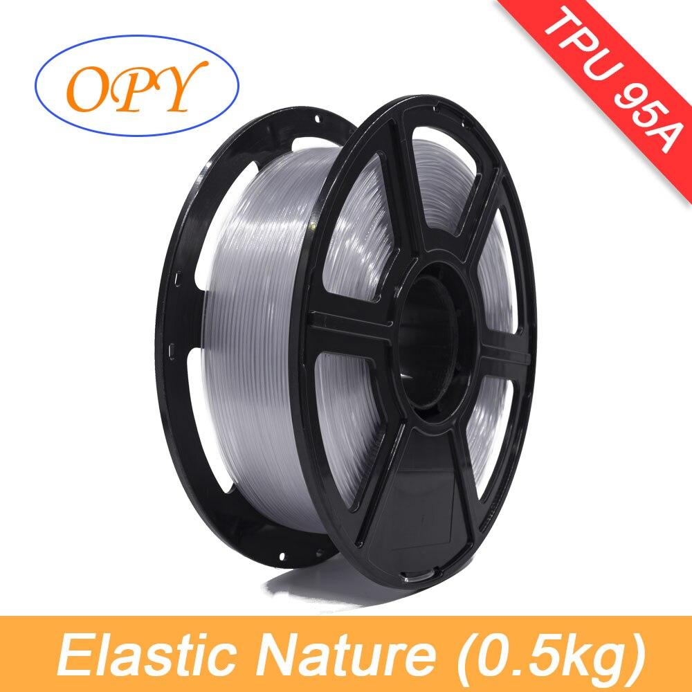 3d flexível elástico tpu filamento 1.75mm material de borracha rolo flex preto 1kg 0.5kg impressora natureza vermelho verde azul amostra