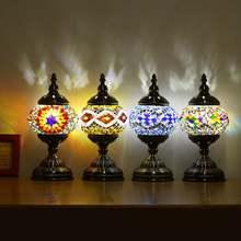 110 ~ 240V E27 Handgemachte Retro Marokkanischen Tisch Lampe Eisen Glas Türkischen Schreibtisch Lampe Bar Leuchte Dekoration Innen beleuchtung