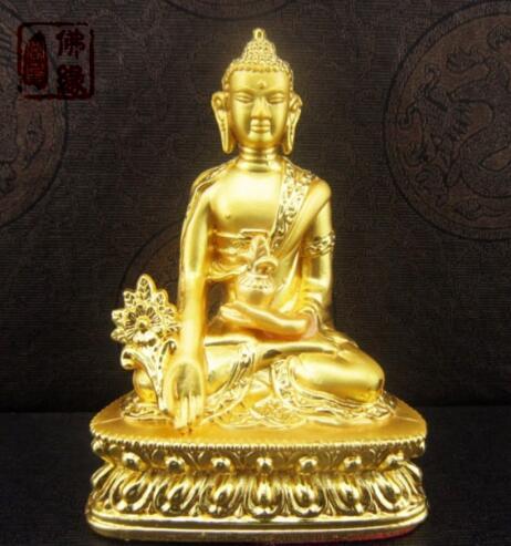 Chinese Buddhism Golden Statue Tibetan Buddha Medicine Buddha Pharmacist Buddha Safe And Good Luck Longevity Statue|Statues & Sculptures| |  - title=