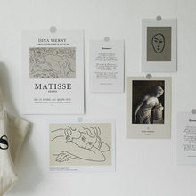 Pegatina de pared de Arte Simple nórdico, accesorios de fotografía, fondo blanco, decoración de habitación, tarjeta de felicitación