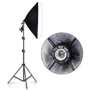 Image 1 - Fotografie 50x70CM Softbox Beleuchtung Kits Weichen box für Flash Kontinuierliche Licht System Für Foto Studio Licht Equipmen ausrüstung