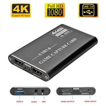 Tarjeta de captura de vídeo 4K, HDMI a USB3.0, 1080P, Dongle de captura hdmi para captura de juegos OBS, tarjeta de captura en vivo