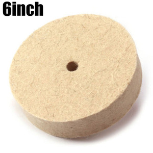 Image 4 - 1PC 6 Inch 150mm Wool Polishing Wheel Buffing Pads Angle Grinder Wheel Felt Polishing Disc for Metal Marble Glass Ceramics