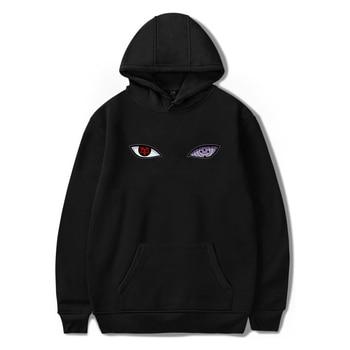 Japanese streetwear Naruto Uchiha Eyes Hoodie Mens Harajuku Anime Fashion Pullover Men Oversized Casual Wear Sweatshirt