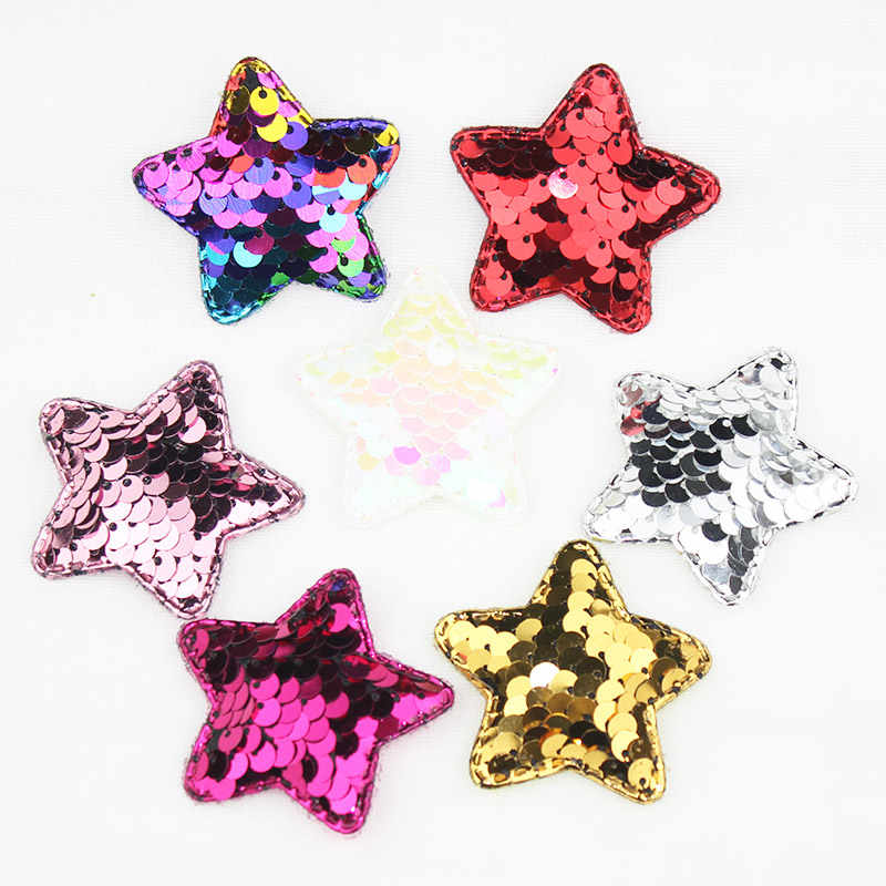 1 шт. 4 8 см блестящая ткань с аппликацией в виде звезд для одежды или сумок швейные