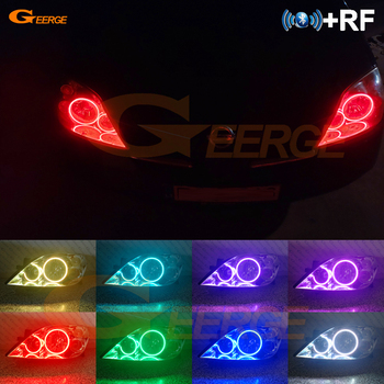 Excellent RF remote Bluetooth APP Multi-Color Ultra bright RGB LED Angel Eyes Halo Ring kit For NISSAN PRIMERA P12 2002-2008