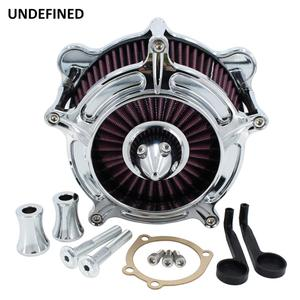 Image 1 - Chrome Air Filter Motorcycle Turbine Intake Air Cleaner For Harley Touring Road King Street Glide Dyna FXR Softail Twin Cam EVO