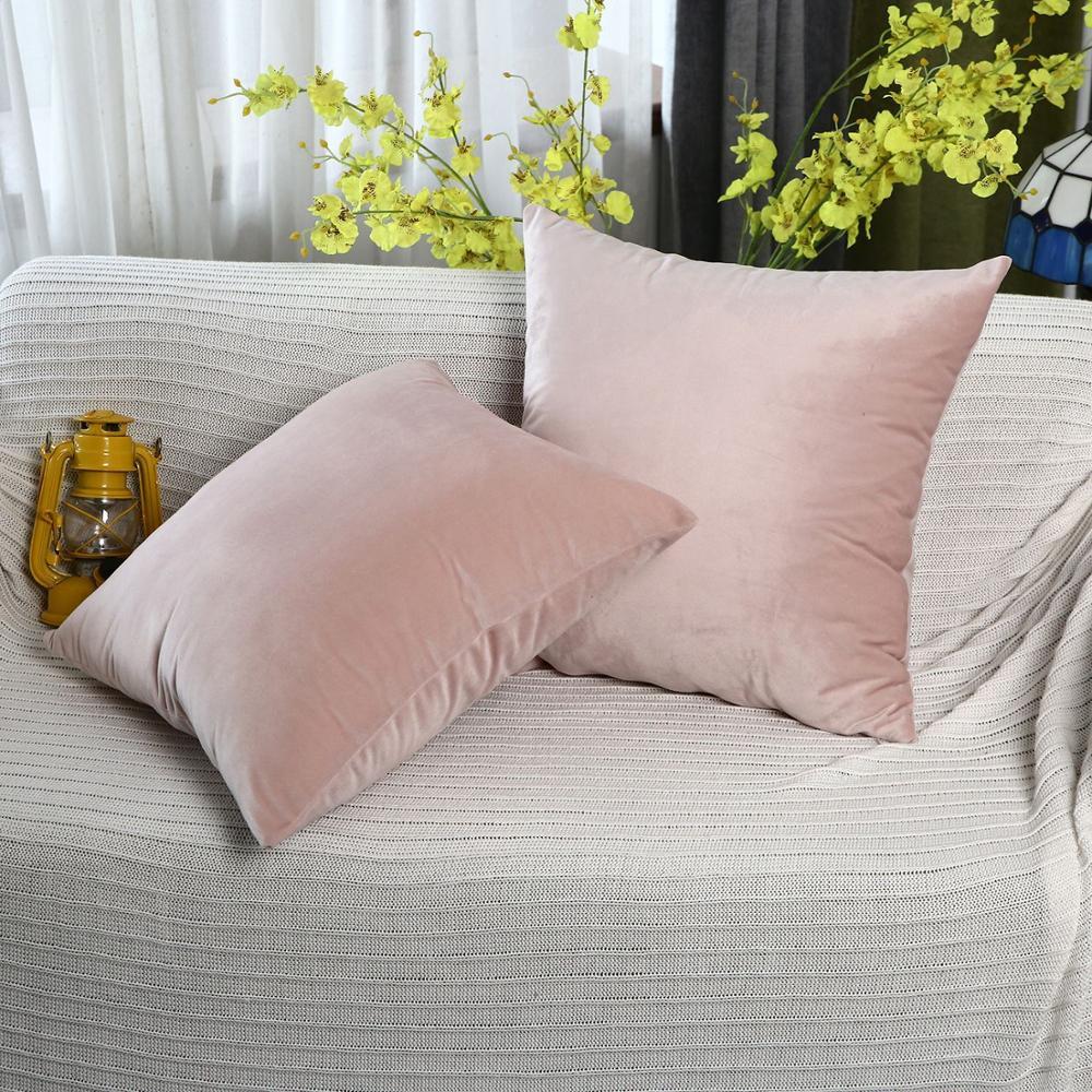 2020 Luxury Velvet Cushion Cover Pillow Cover Pillow Case Green Yellow Pink Gray Home Decorative Sofa Throw Pillows 45X45CM