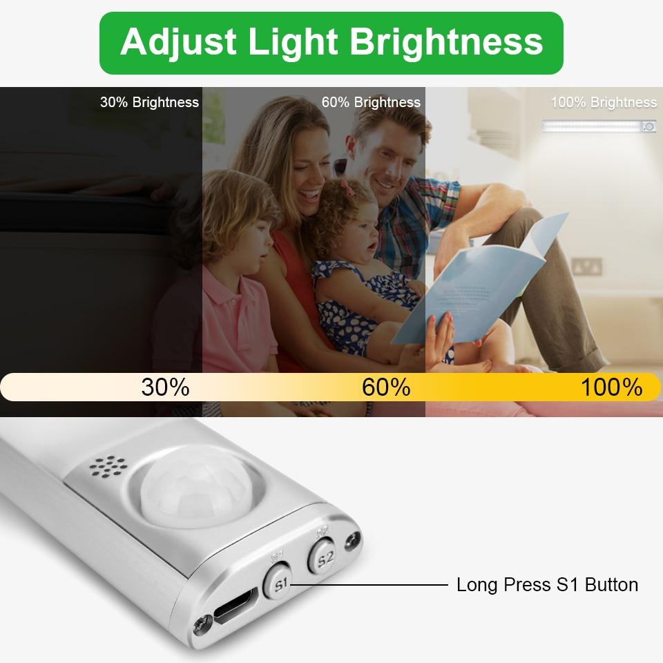 Goodland Closet Light 160 LED Lights PIR Motion Sensor Light Cupboard Wardrobe Night Lamp For Kitchen Bedroom Cabinet Backlight 4