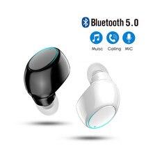 Mini in-ear 5.0 bluetooth fone de ouvido sem fio de alta fidelidade fone de ouvido com microfone esportes fones de ouvido handsfree estéreo som para todos os telefones