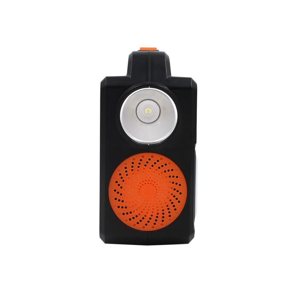 Alto falante leve play música da lâmpada oradores sem fio conduzidos inteligentes de bluetooth do bulbo com painel solar - 4