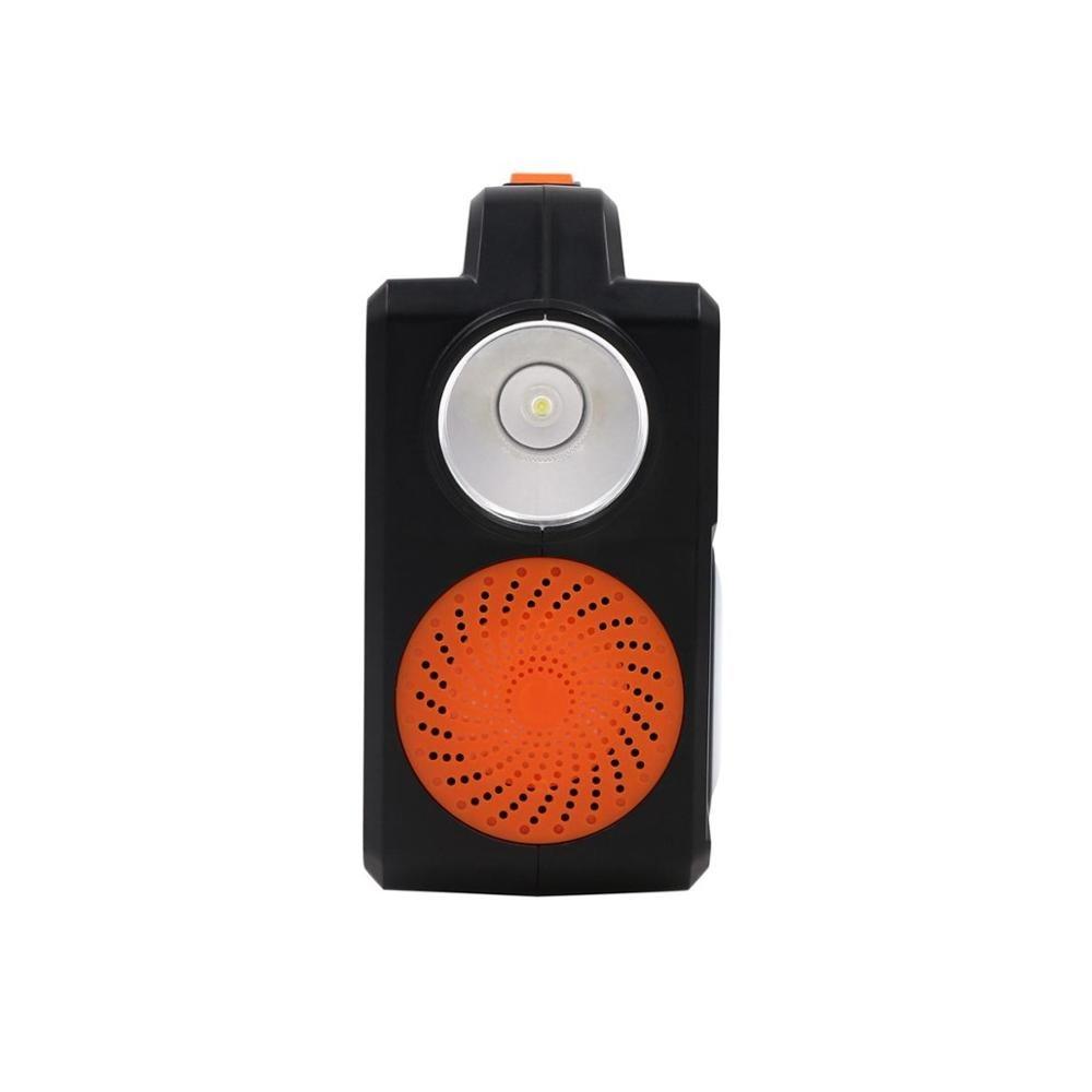 Haut parleur lumineux jouer lampe musique ampoule intelligente sans fil LED haut parleurs Bluetooth avec panneau solaire - 4