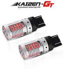 De alta Potência No Hiper Flash Canbus 7443 T20 Tail Lights Red 48-SMD W21/3030-SMD 5W Carro Lâmpadas LED para Luz De Freio Livre de Erros 21W