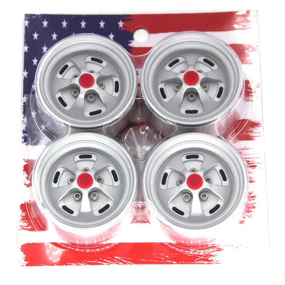 "4X 1.9/"" Beadlock Wheel rims Metall Felgen für RC 1//10 Axial SCX10 D90 CC01 Trx4"